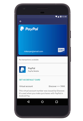 PayPal Will Use Discover Acceptance Infrastructure and Tokenization for In-Store Payments with Android Pay